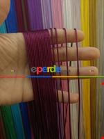 Kalın Zincir Serisi İp Perde (beyaz, Krem, Gri, Kırmızı, Bordo, Siyah, Mavi, Pembe, Sarı) Bordo