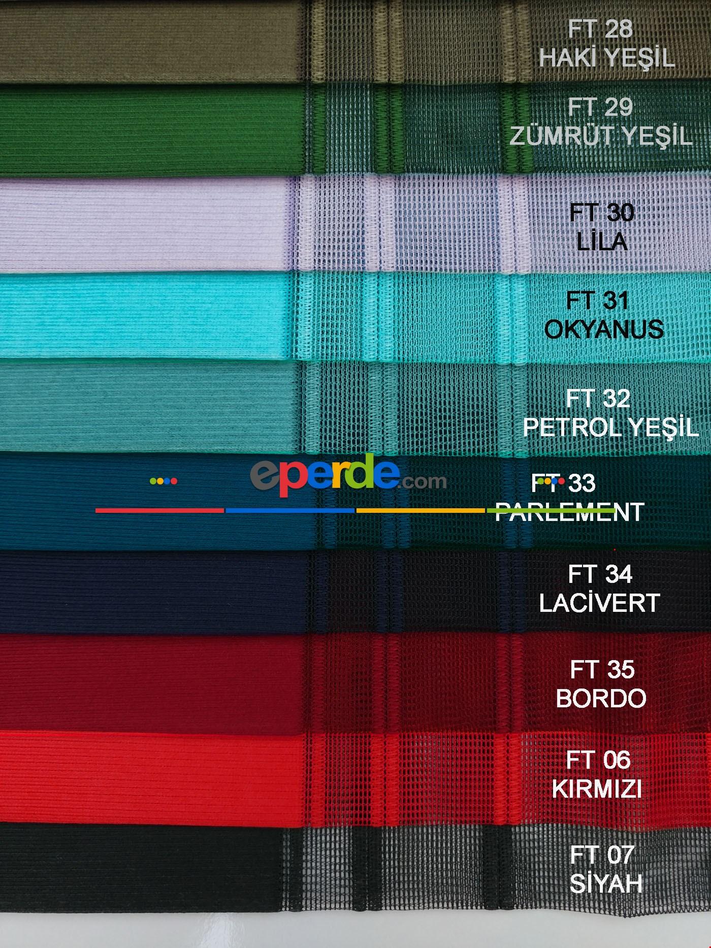 1. Kalite Çizgili Tül Dikey Zebra Perde - Ft14 Füme, Ft13 Gri, Ft16 Hardal Sarı, Ft02 Ekru