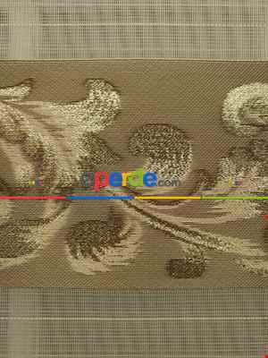 Salon Zebra Perde - Jakarlı Zebra Perde Bdz-02- Altın Simli