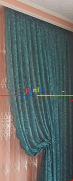 Tül Fon Gri Renk Fon Büzgülütasarım Yeni Moda Perde- Gri-füme-antrasit Mavi