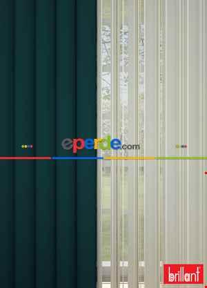 Brillant Akıllı Tül Perde Petrol Yeşili Renkli Tül Dikey Zebra Perde Düz 1. Kalite