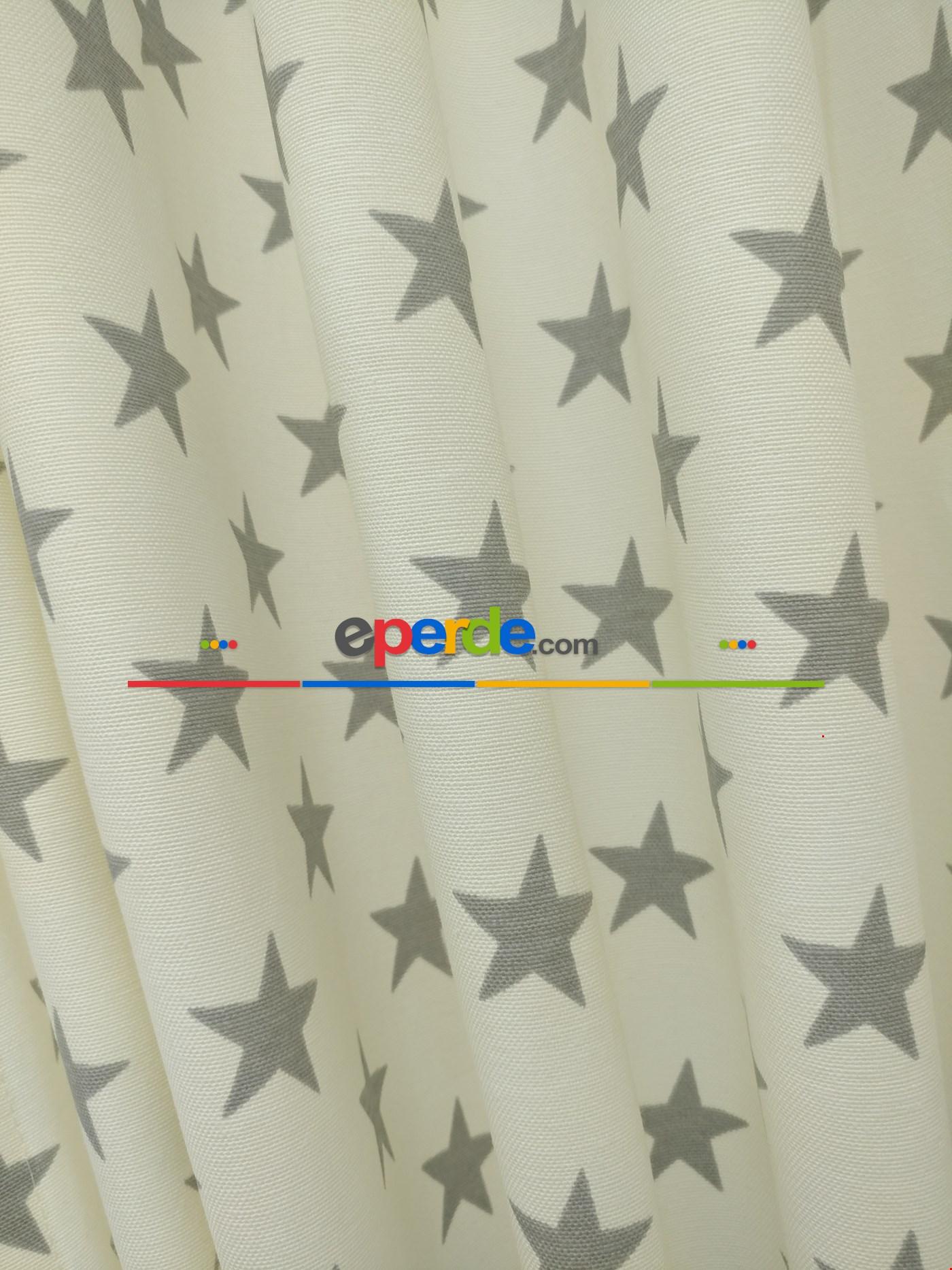 Yıldız Desenli Fon Perde (leke Tutmaz)
