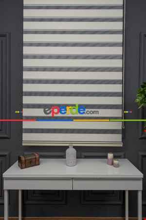 Zebra Perde - Düz Zebra Perde Kalın Dokulu