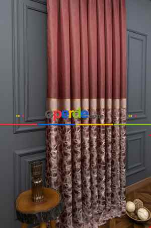 Pano Fon Beylerbeyi Bordo Renk 90cm X 280cm
