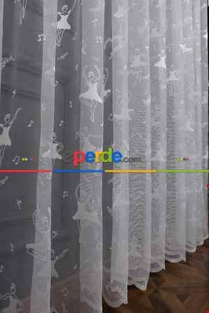 Çocuk Odası Balerin Tül Perde- Ekru