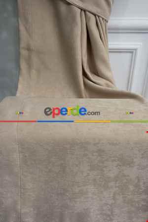 Soft Taş Rengi Fon Perde Dökümlü En 150 Cm- Taş Rengi