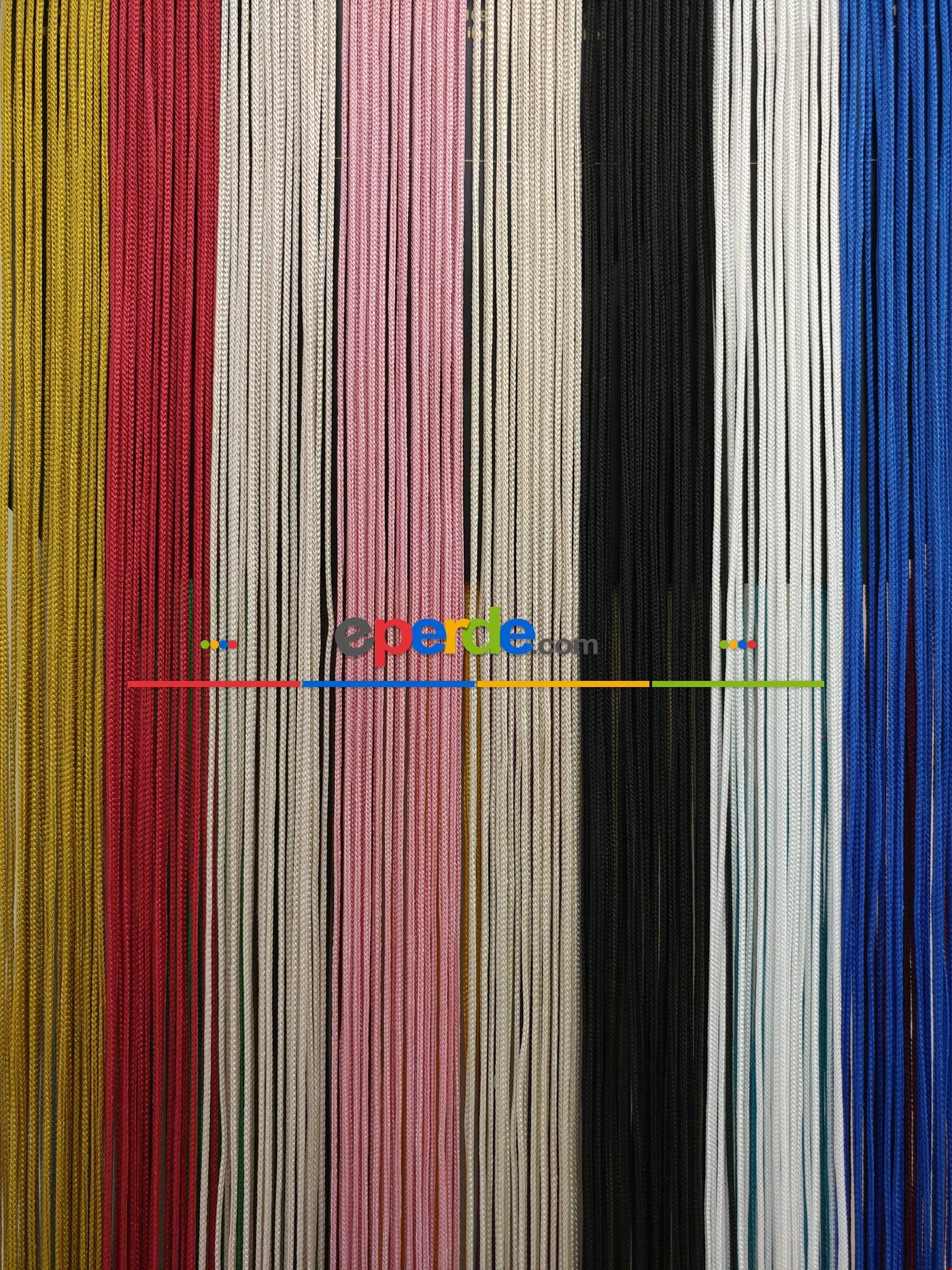 Krem Rengi İp Perde Kalın Zincir Serisi