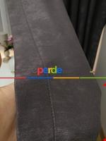 Soft İndigo Fon Perde (180)- Mavi Gri Füme Antrasit - Kahverengi