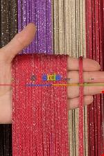 Jumbo Zincir Serisi İp Perde Bordo Gümüş- Bordo-gümüş Simli Kırmızı - Gümüş