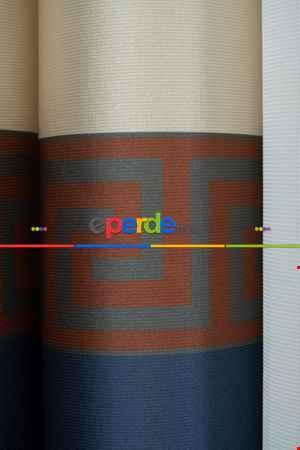 Lens Akıllı Dikey Tül Perde Versace-41- Çok Renkli 3