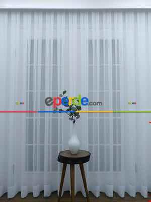 Salon Tül - Beyaz Tergal Düz Tül (geniş En:280cm) Etek Katlamalı- Beyaz