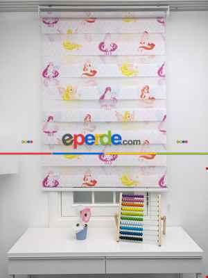 Kız Çocuk Odası Zebra Perde