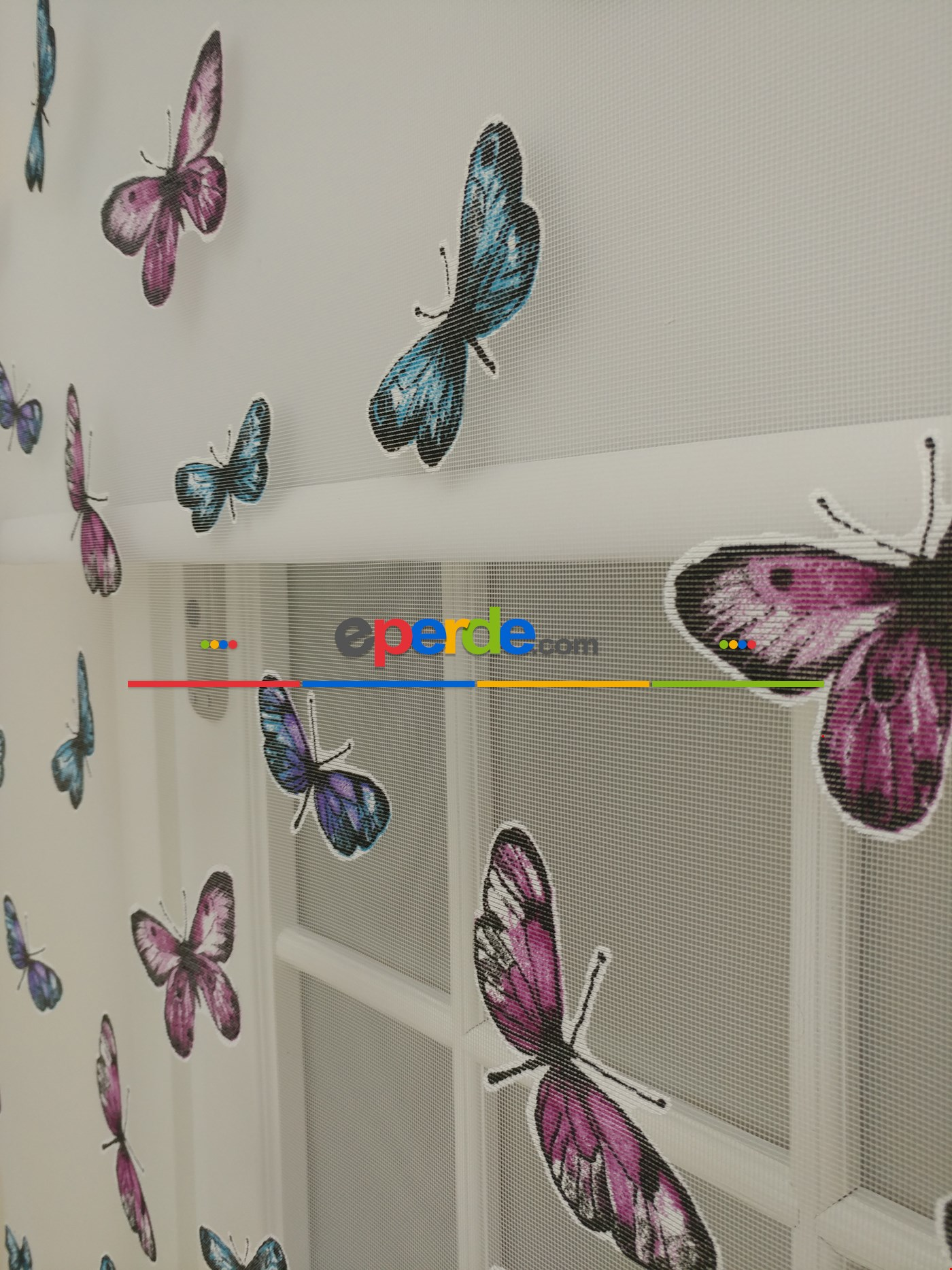 Fırsat!!! Yeni Tül Stor Perde Kelebek Desenli