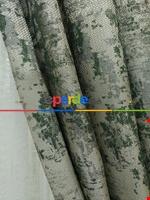 Yeşil Bej Rengi Duz Jakar Fon Perde (150)- Yeşil Koyu Yeşil Yeşil