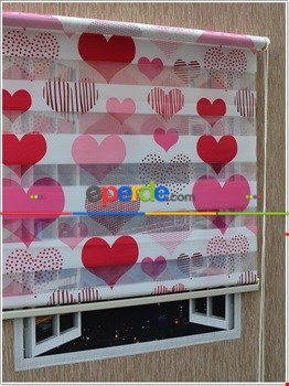 100*200 Kalpli Baskılı Zebra Perde- Pembe
