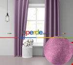 Sis Mavisi Ada Fon Perde 51 Renk Seçeneği Perle Home Daily Series Pembe