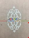 Krem Damask Desenli Nakış İşlemeli Tül Perde