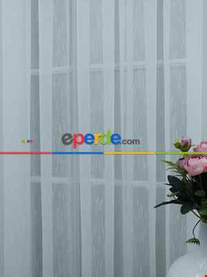 Perdeks Home Tül Perde 01 Lux Series- Ekru
