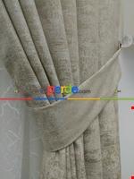 Pudra Pembe - Düz Jakar Fon Perde (180) Krem Açık