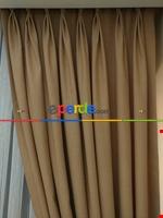 Açık Krem Rengi - Düz Keten Fon Perde ( En 180cm Keten Fon Perde)- Taş Rengi Krem