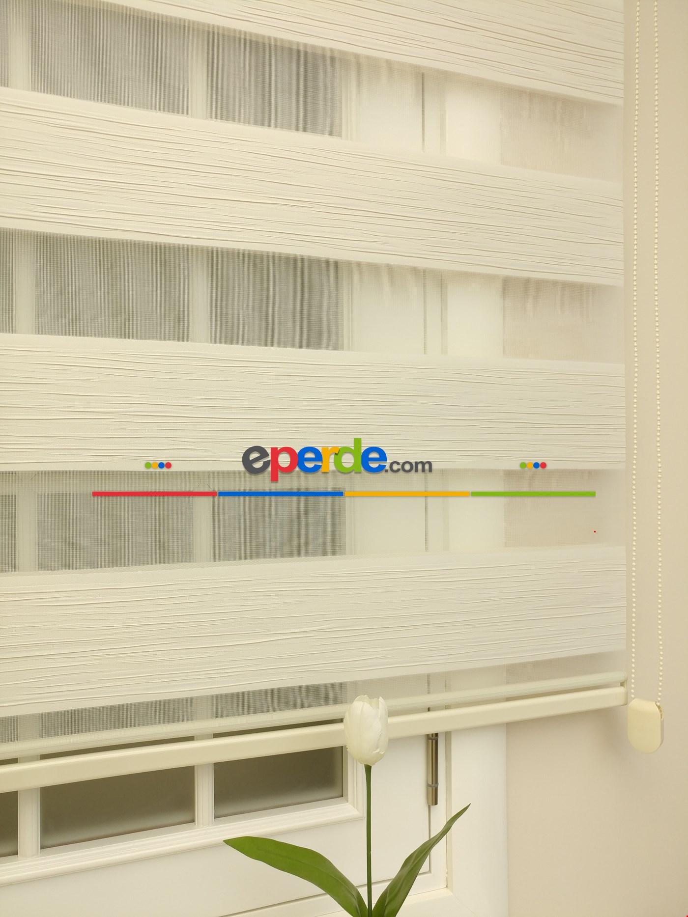 Zebra Perde - Mallorca Krem Bej Renk Kırık Plise (yeni Sezon) Krem