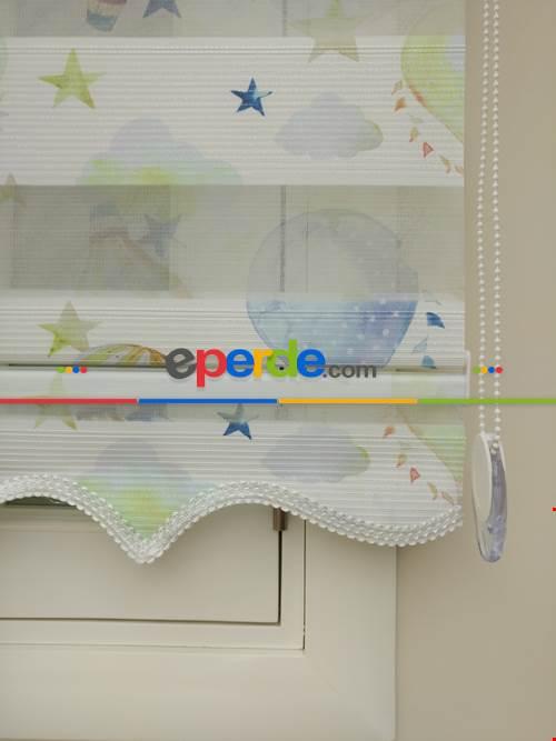 Fırsat!!! Balon Desenli Çocuk Odası Zebra Perde (yeni Ürün)