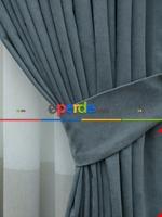 Pudra Pembe -gül Kurusu - Düz Fon Perde ( En 150cm Dökümlü Fon Perde) Mavi