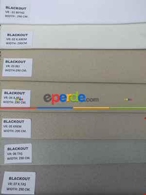Salon - Blackout Düz Fon Perde Karartma Perde Güneşlik-  Çok Renkli 3