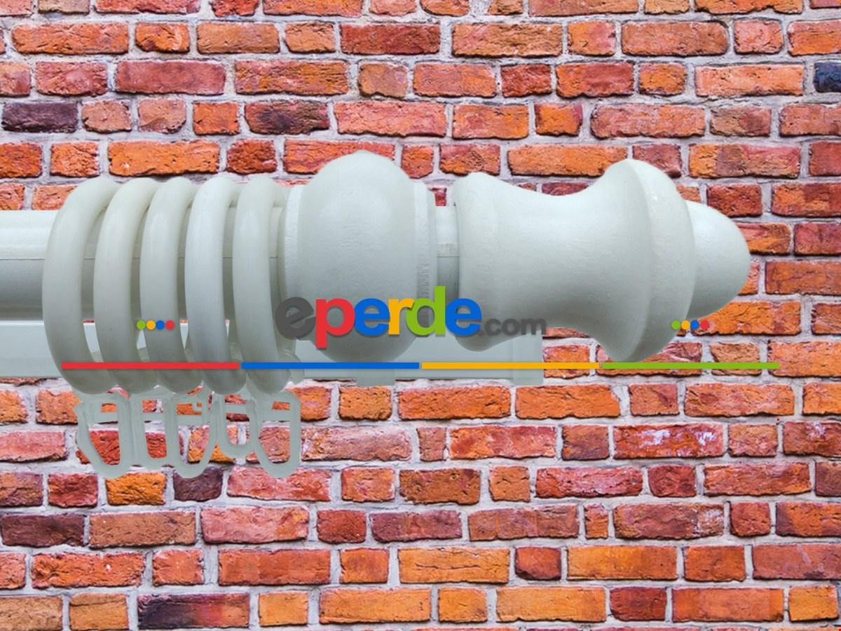 Rustik Perdelik - Beyaz 100cm X 5cm