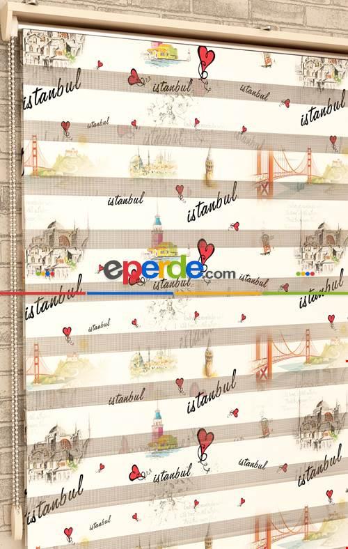 İstanbul Desen - Baskılı Zebra Perde