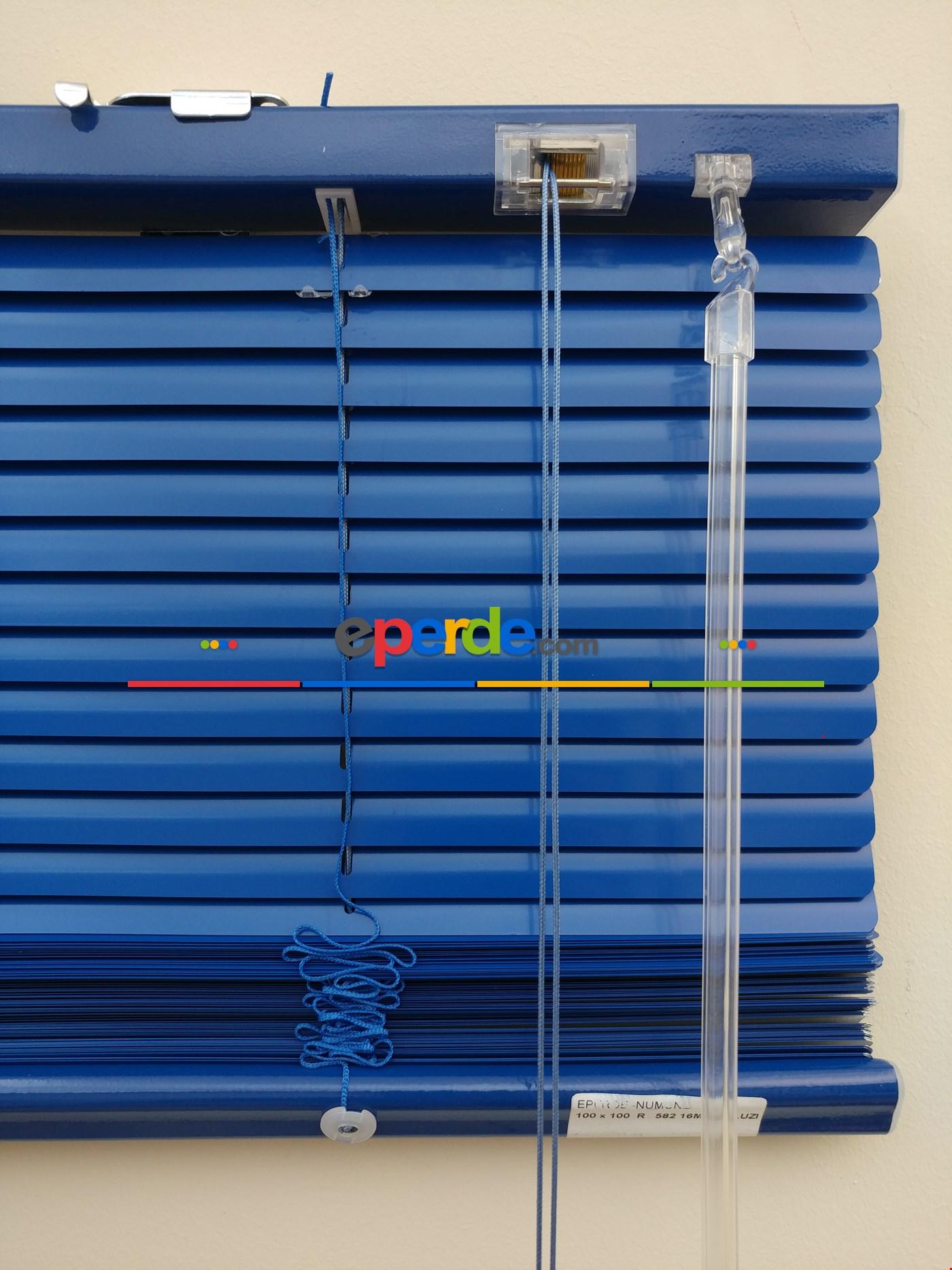 Saks Mavi - Alüminyum Jaluzi Perde - 16mm Kalınlığında