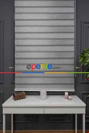 Salon - Zebra Perde - Yarım Plise - Geniş Palet Zebra Perde