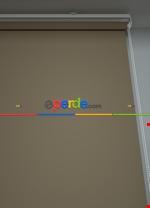 Ekru Düz Yıkanabilir Polyester 1.kalite Stor Perde Kahverengi