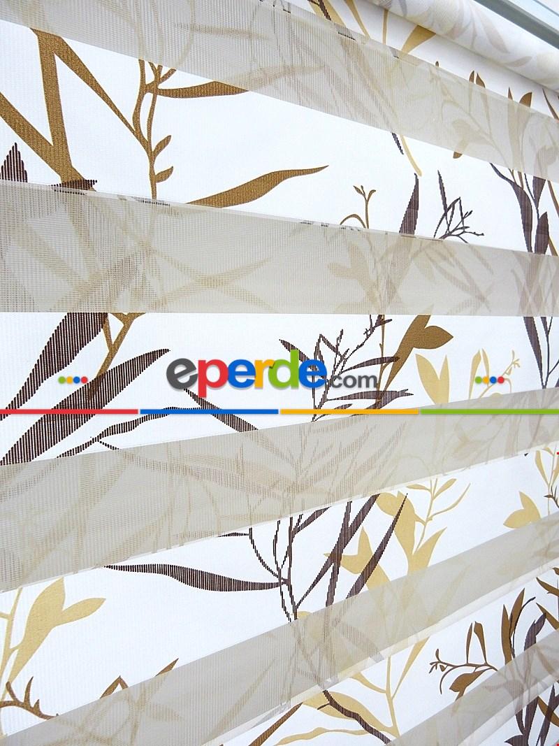 60x200 Hazır Zebra Perde Yaprak Desen