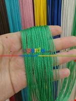 Bordo Rengi İp Perde İnce Zincir Serisi Yeşil