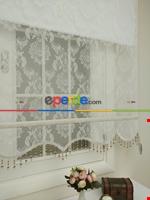 Kampanyalı Fiyat Çiftli Sistem Tül Ve Stor Perde - Büyük Damask- Krem Açık-ekru Ekru
