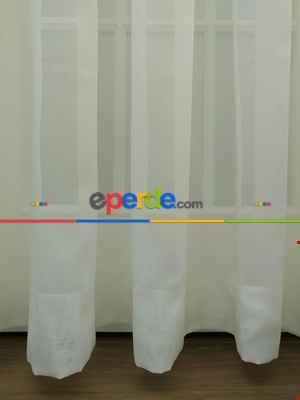 Ekru Tergal Düz Tül (geniş En:280cm) Etek Katlamalı- Ekru