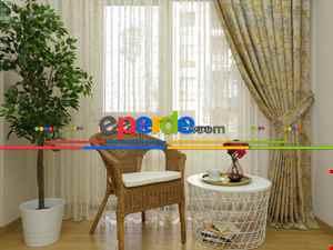 Salon Bej Hardal Desenli Jakar Fon Perde (285 En)-  Çok Renkli 3