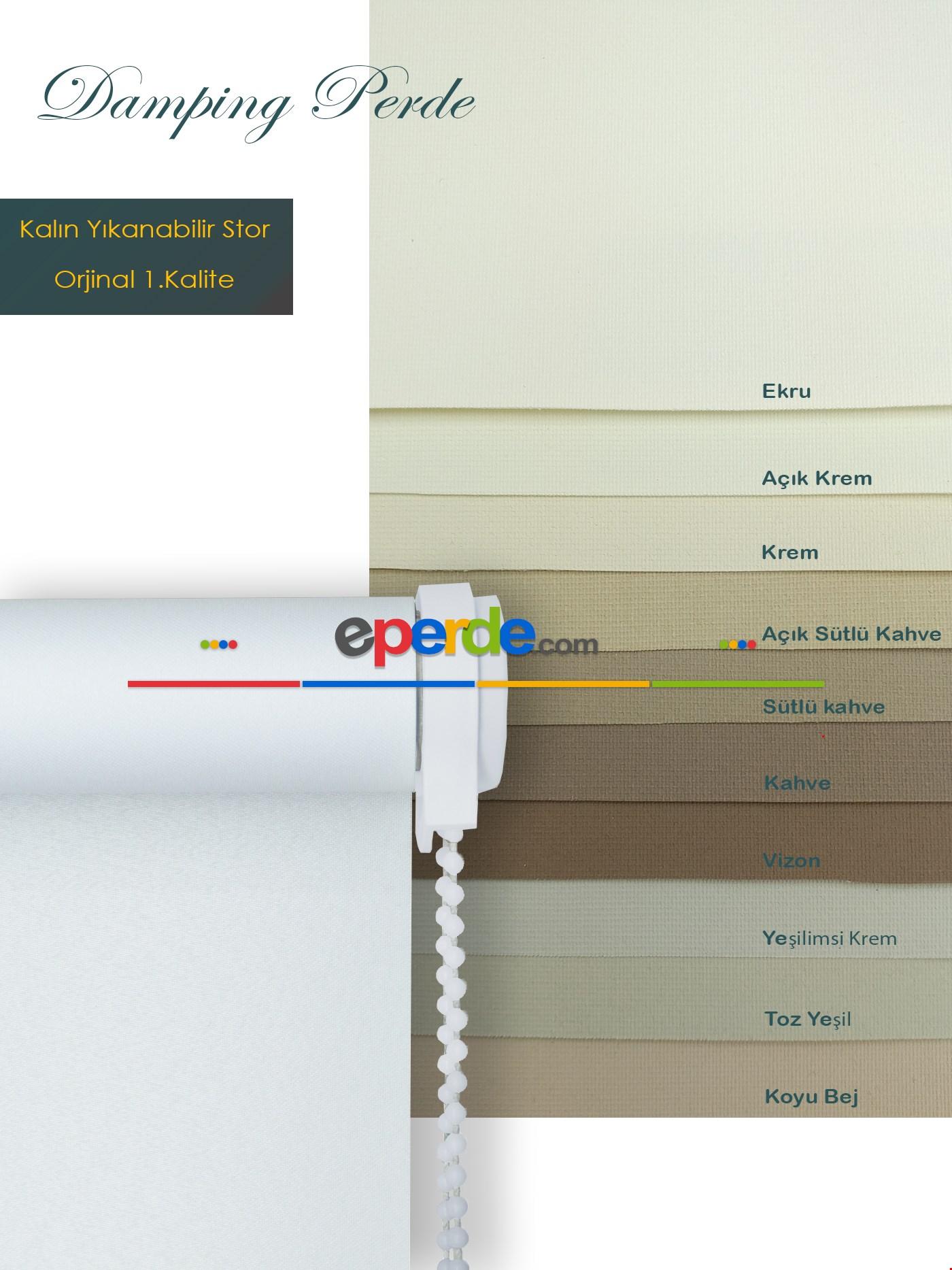 Düz Stor Perde Pembe - Fuşya - Mor - Sarı - Turuncu - Kırmızı - Fıstık Yeşili - Yeşil - Mavi Krem - Bej - Krem Açık - Açık Yeşil - Vizon Rengi - Ekru - Kahve - Sütlü Kahve - Kum Beji