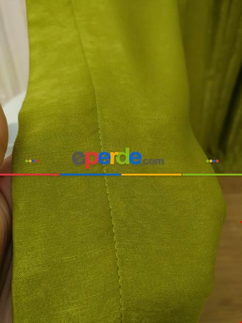 Soft Fıstık Yeşili Fon Perde (180)- Fıstık Yeşili
