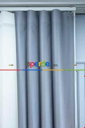 Lens Akıllı Dikey Tül Perde Mermer-33- Çok Renkli 2
