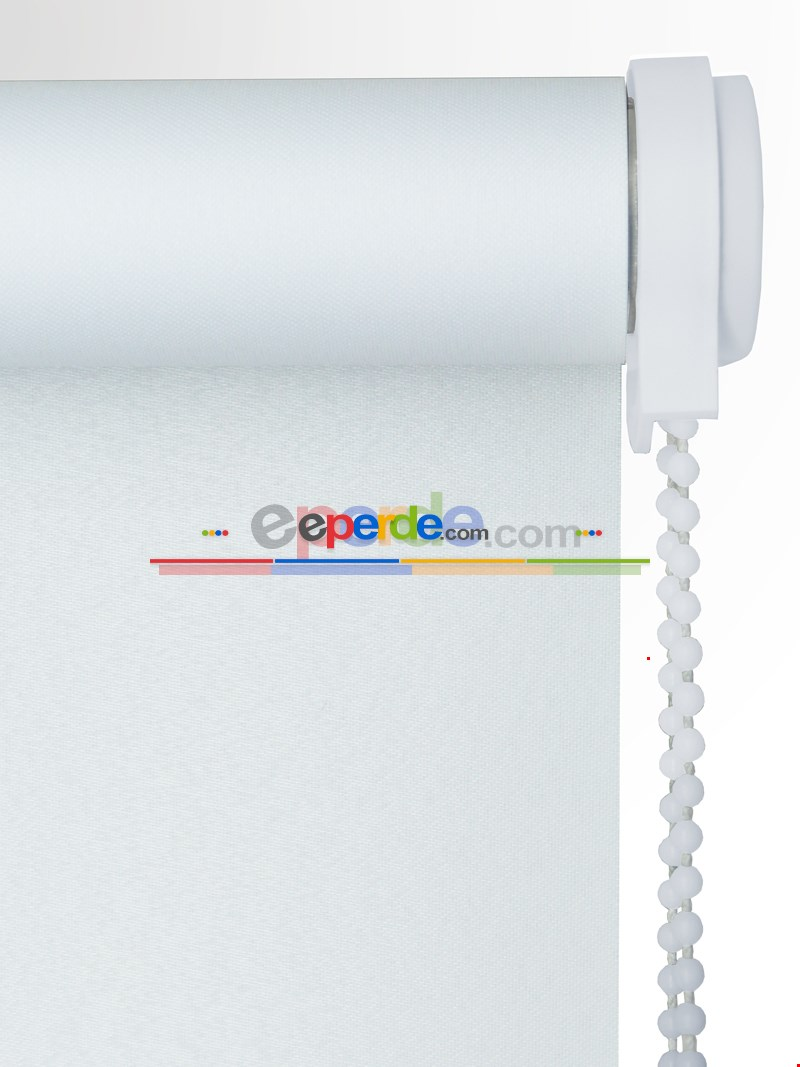 Beyaz Stor Perde Düz Seri (polyester Saten)