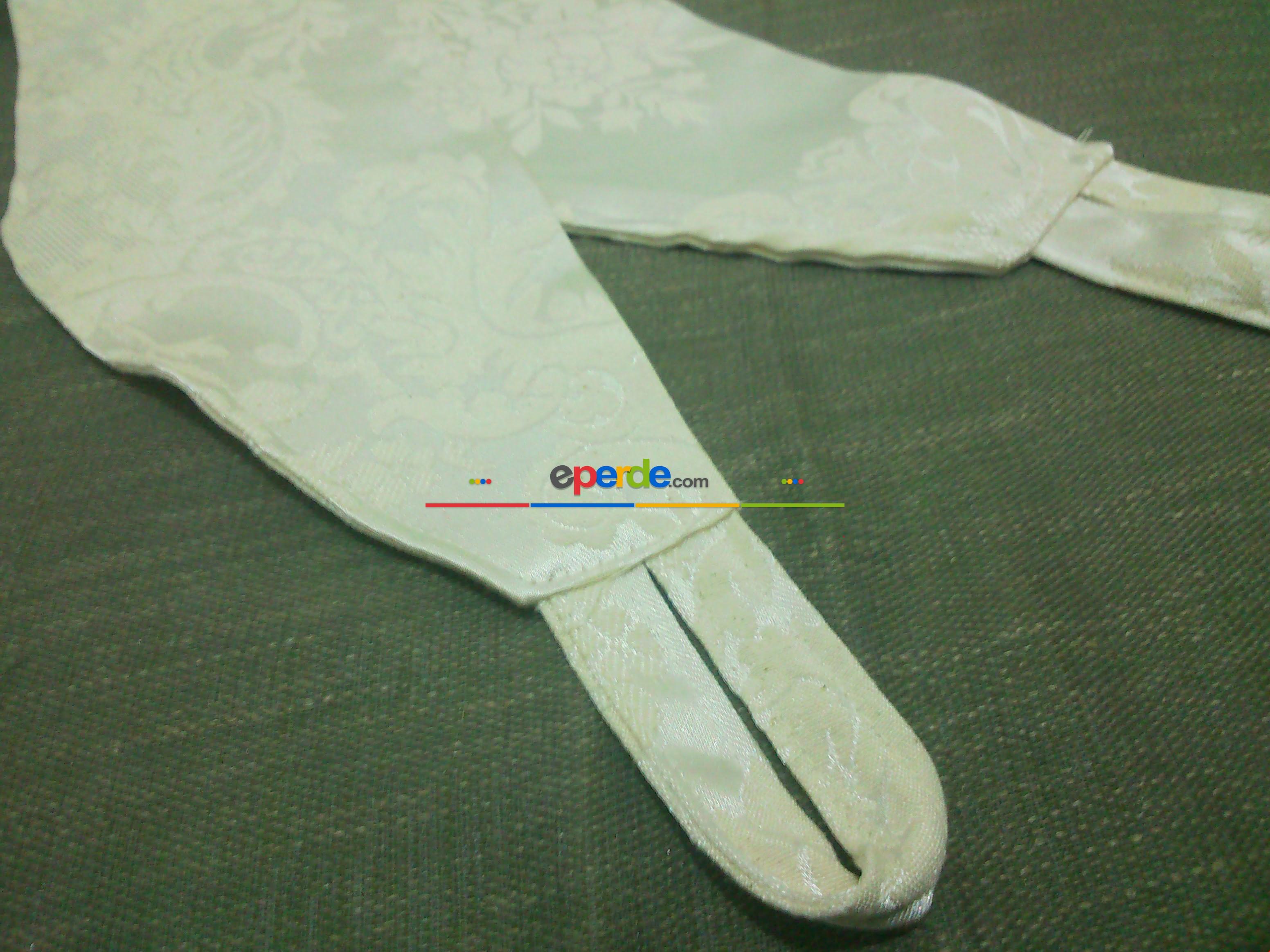 Jakar - Desenli Hazır Fon Perde ( Krem ) 2 Adet ( Sağ - Sol ) 80cm X 250cm