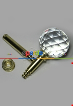 Fon Demiri Renso Pipo Camlı Gümüş-7 Cm( 2adet) Altın
