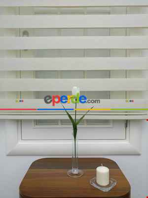 Salon - @ İndirimli! Krem Renk Bambu Zebra Perde(1.kalite) Ozel Fiyat- Krem