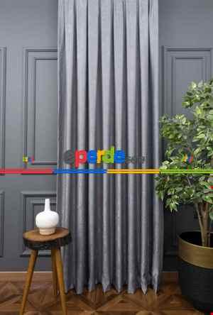 Salon Perdesi - Soft Açık Gri Fon Perde (180)- Gri-Füme-Antrasit