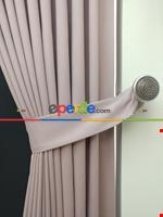 Gri Düz Renk Dökümlü Fon Perde (150)- Gri Pembe