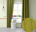 Sis Mavisi Ada Fon Perde 51 Renk Seçeneği Perle Home Daily Series Yeşil