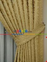 Toprak Rengi Duz Jakar Fon Perde (180)- Kahverengi Altın