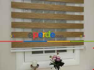 Salon Zebra Perde - Fırsat!!! Lüx Bambu Zebra Perde Ahşap Görünümlü - Açık Taba- Taba
